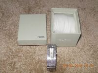 Ladies Silver Diamante Next Watch Bracelet / Bangle - Excellent Condition.