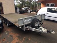Ifor William tri axle trailer 16ft hardly used low loader flatbed