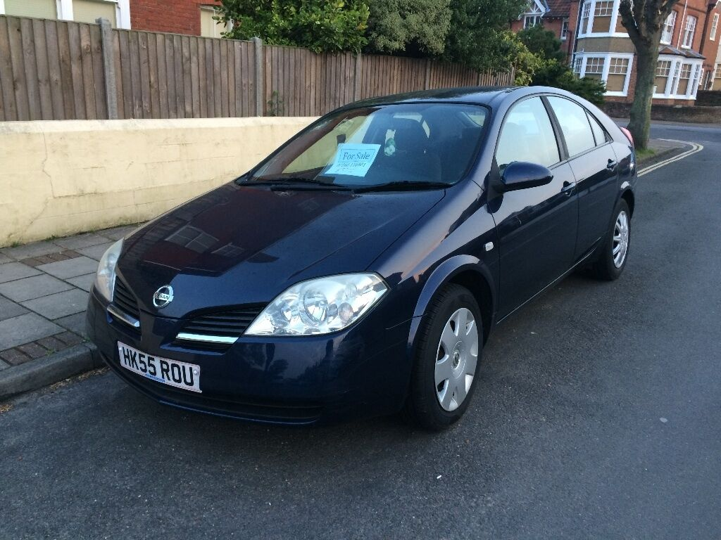NISSAN PRIMERA - GOOD CONDITION - \'55 NUMBERPLATE - NAVY BLUE - OPEN ...