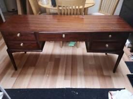 Beautiful Mahogany narrow desk/dresser.