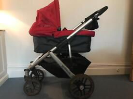Uppababy Vista (2014), including bassinet, stroller seat and accessories