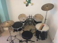 """Great condition """"Volt"""" full size drum kit"""