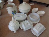 Box of White Assorted China