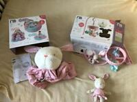 Mothercare Matching Baby Set - Mobile, Sit Me Up Cosy and Cuddly Rabbit