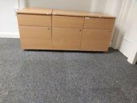 Wooden finish office drawer pedestals £25 each NO OFFER