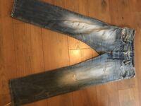 Diesel Jeans W28 L30 IAKOP Regular Slim-Tapered Wash 0814A