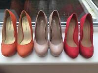 3 pairs of stilettos size 6