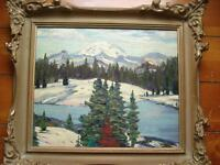 Signed and Titled Original Henry Thomson Oil Painting