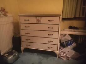 Dressing table and chest