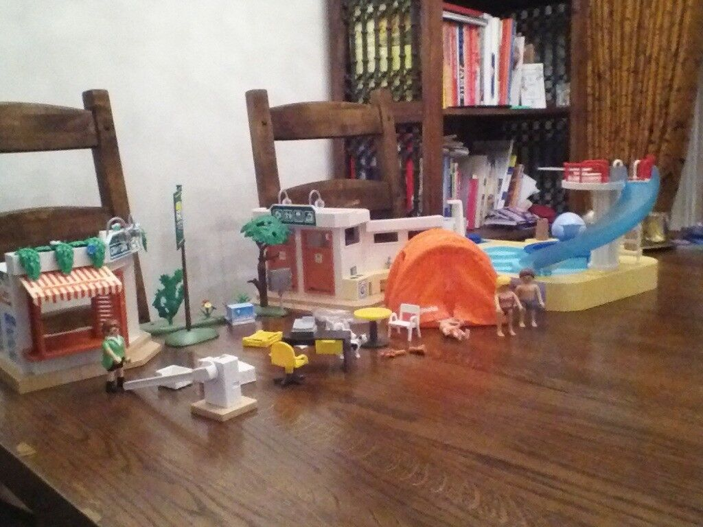 Play mobil campsite and swimming pool