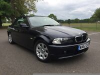 2002,52 PLATE BMW 318 CI CONVERTIBLE ,LOWING MILEAGE ,FULL DEALER HISTORY ,MINT CONDITION