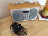 Pure Evoke-2XT Digital/FM Stereo Radio with power adaptor