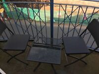 X2 seater and small glass table for sale