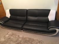 4 seater leather settee