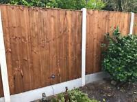 🎆Tanalised Brown Feather Edge Straight New Top Fence Panels