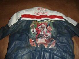 1980's wolf leather motorbike jacket