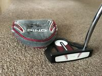 "PING SCOTTSDALE CRAZ-E MALLET PUTTER 34"" STD LENGTH"