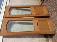 Twin internal glazed solid oak doors, used for sale  Kilmarnock, East Ayrshire
