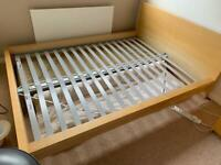 Double bed - drawers and floating shelf