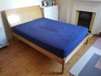Warren Evans Verona double bed wooden frame with headboard