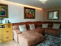 Sofa and footstool for sale