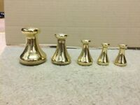 Avery Brass Bell Weights x 5