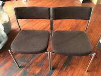 2 Conference meeting waiting room chairs - sold as a set