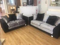Crushed velvet sofa 3 seater and 2 seater only £349 BRAND NEW
