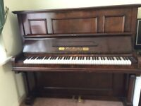 Upright piano, (Ferd. Manthey), mahogany, very good quality and condition, free to collect