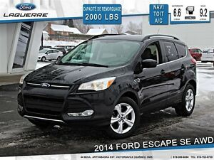 2014 Ford Escape **SE*AWD*TOIT*NAVI*CAMERA*CRUISE*A/C 2 ZONES**