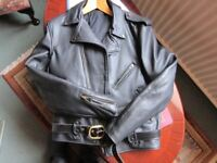 Black Heavy Leather Duke Lancer Front Bike Jacket (42)