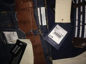 Various jeans n trousers, some brand new, Levi's, jasper conran