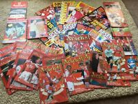 Arsenal programmes x 22 + 10 Arsenal magazines
