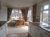 Luxury holiday lodge double size. Perthshire