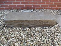 TWO VERY LARGE BLOCKS OF BLUE PENNANT STONE