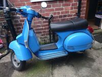 LML Auto 125 Vintage Vespa style scooter under 1000 miles nearly new condition