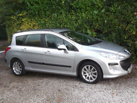 PEUGEOT 308 SW 1.6 HDI SR 2009 59 WELL LOOKED AFTER ESTATE