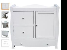 Brand New Solid Beechwood Sleigh Dresser/Changing Unit