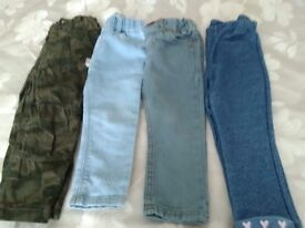 Girls Trousers/jeans/leggings 18- 24 months