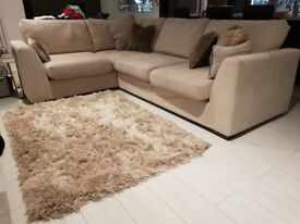 DfS Blanche cream right hand corner sofa with foam