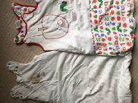 2 sleeping bags, 0-6mo, 2.5tog