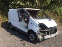 2007 (57) Vauxhall Vivaro FIRE DAMAGED GOOD ENGINE AND GEARBOX