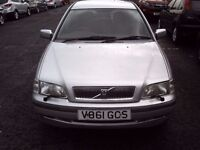 1999 V VOLVO S40 1.6 XS ** ONLY 73500 MILES ** MOT SEPTEMBER 2017 ** TRADE IN TO CLEAR **