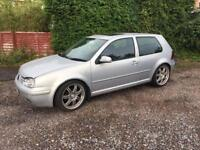 Vw gold mk 4 spare or repairs 18 inch alloys