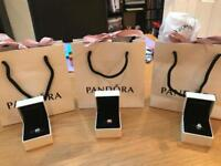 Genuine Pandora charms in box & bag