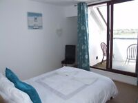 Luxury Double Room, Private Balcony, Overlooking Langstone Harbour