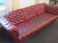 Leather Chesterfield Style Sofa £35