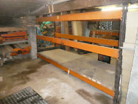 Warehouse Pallet Racking / steel shelves (large quantity)