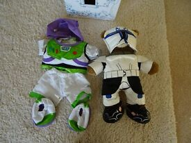 Build A Bear space bundle - Clone Trooper Bear (plays Star Wars theme) and Buzz Lightyear costume