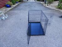 """Cat/Dog/animal holding cage metal 3 ft long x 2 ft wide x 2`3"""" high."""